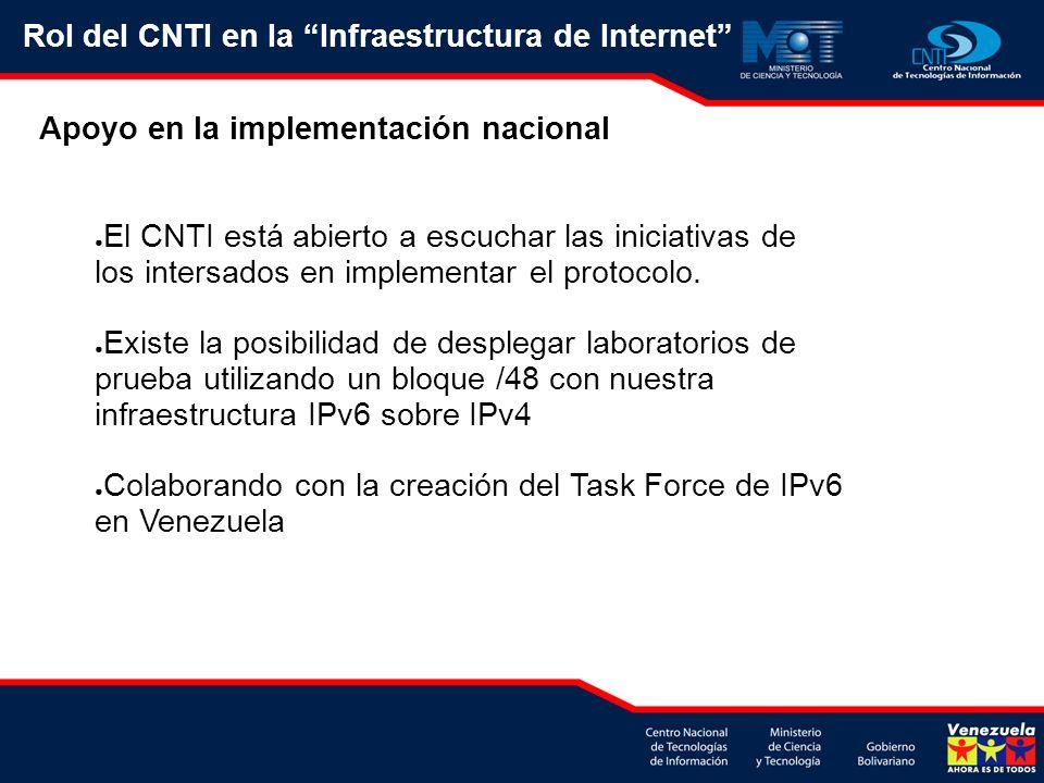 Rol del CNTI en la Infraestructura de Internet