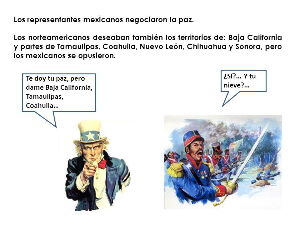Los representantes mexicanos negociaron la paz.