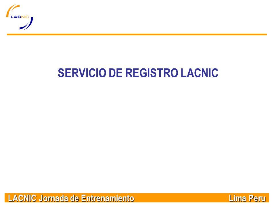 SERVICIO DE REGISTRO LACNIC