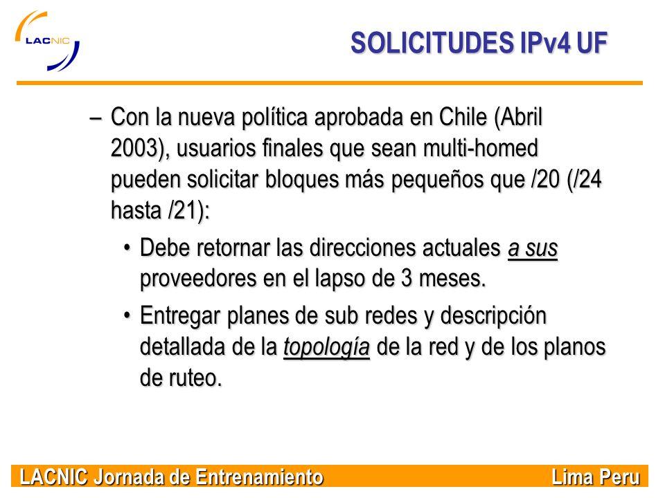 SOLICITUDES IPv4 UF