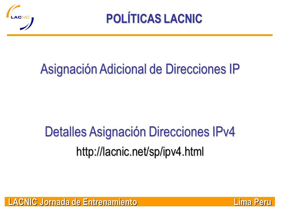 Asignación Adicional de Direcciones IP