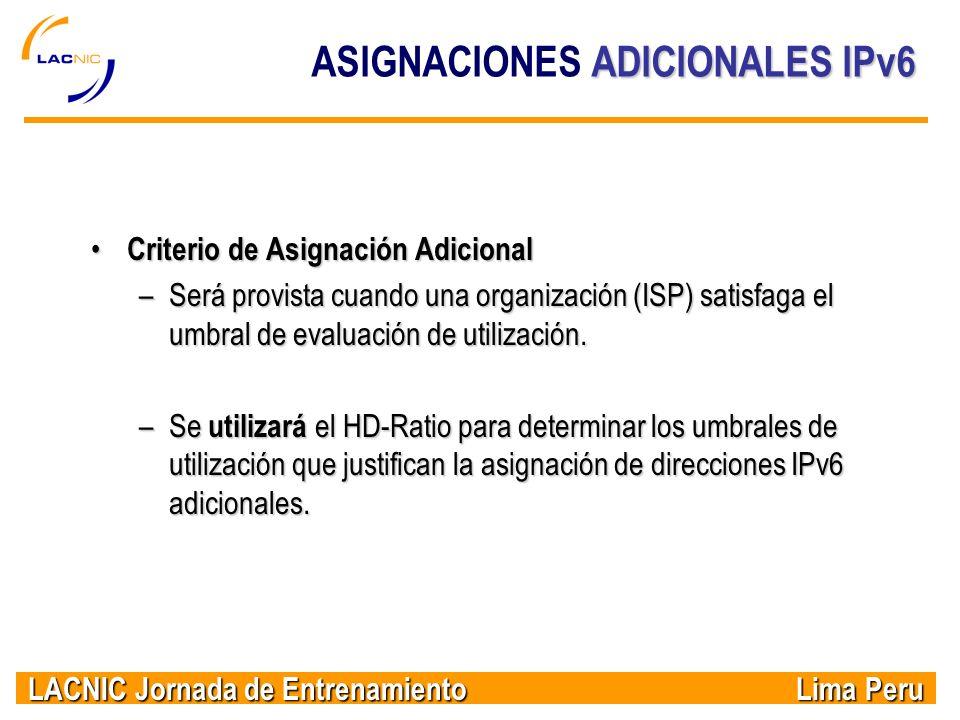 ASIGNACIONES ADICIONALES IPv6