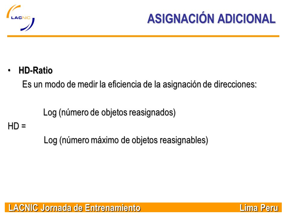 ASIGNACIÓN ADICIONAL HD-Ratio