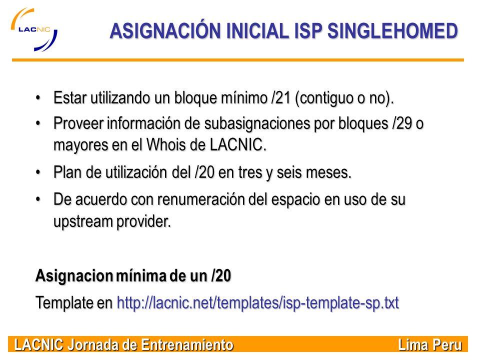 ASIGNACIÓN INICIAL ISP SINGLEHOMED