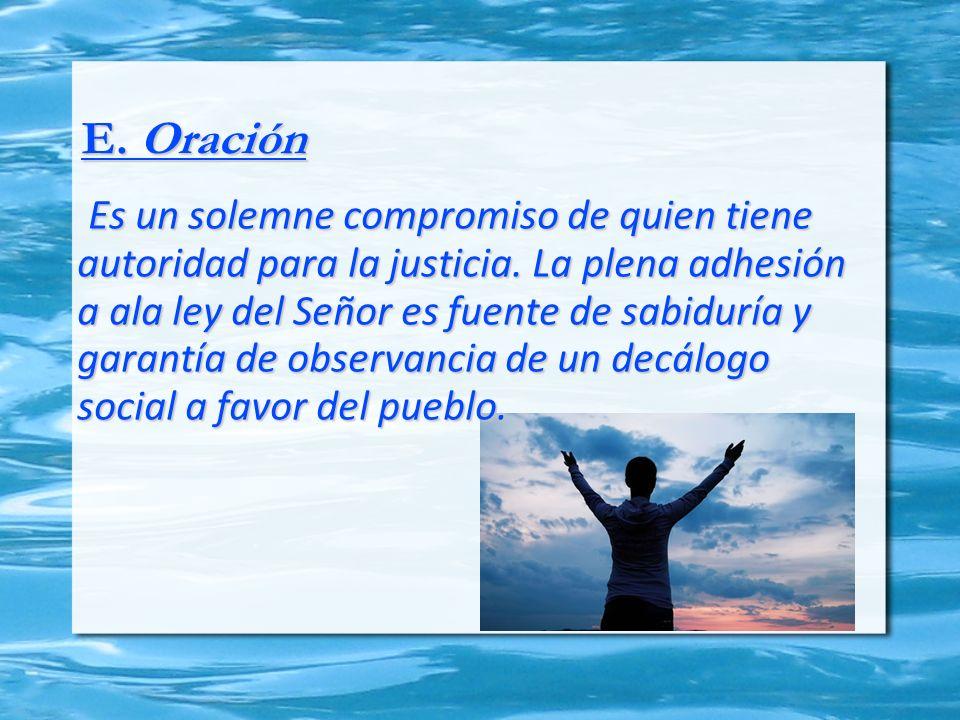 E. Oración