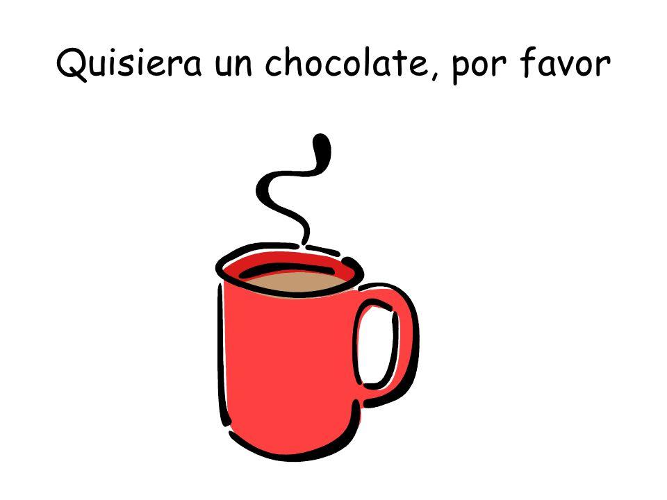 Quisiera un chocolate, por favor