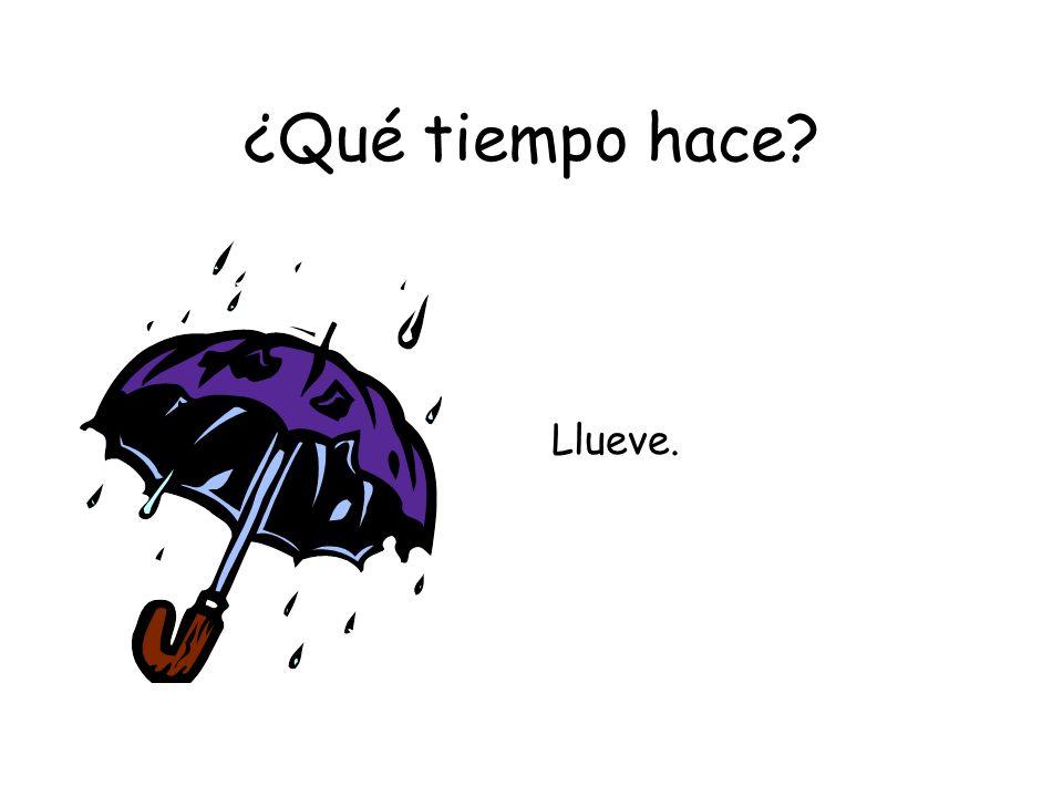 ¿Qué tiempo hace Llueve.
