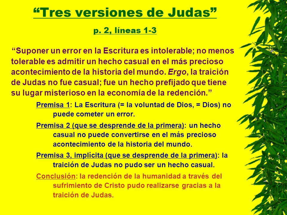 Tres versiones de Judas p. 2, líneas 1-3