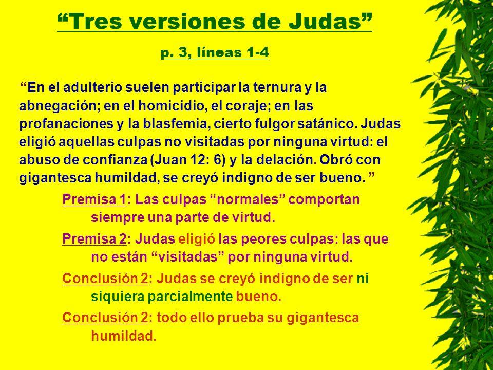 Tres versiones de Judas p. 3, líneas 1-4