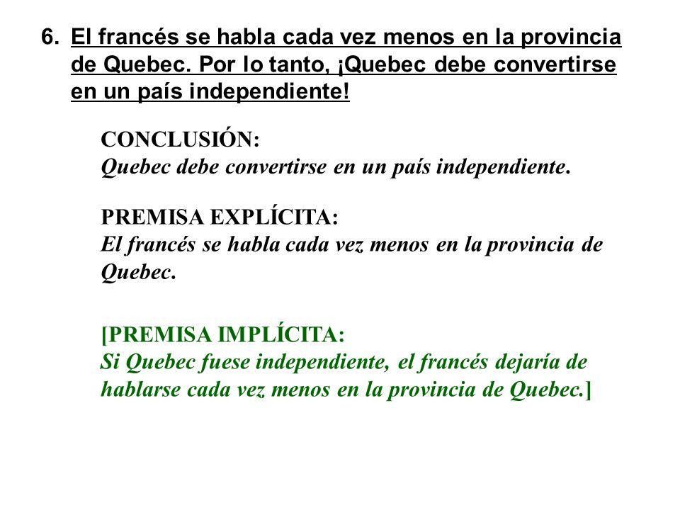 El francés se habla cada vez menos en la provincia de Quebec