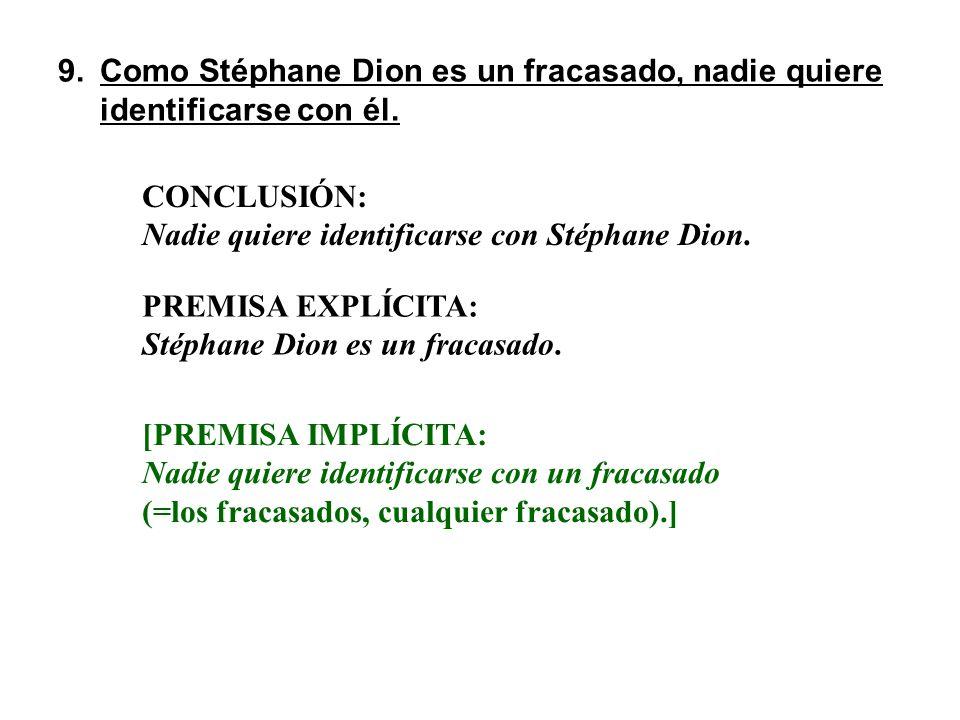 Como Stéphane Dion es un fracasado, nadie quiere identificarse con él.