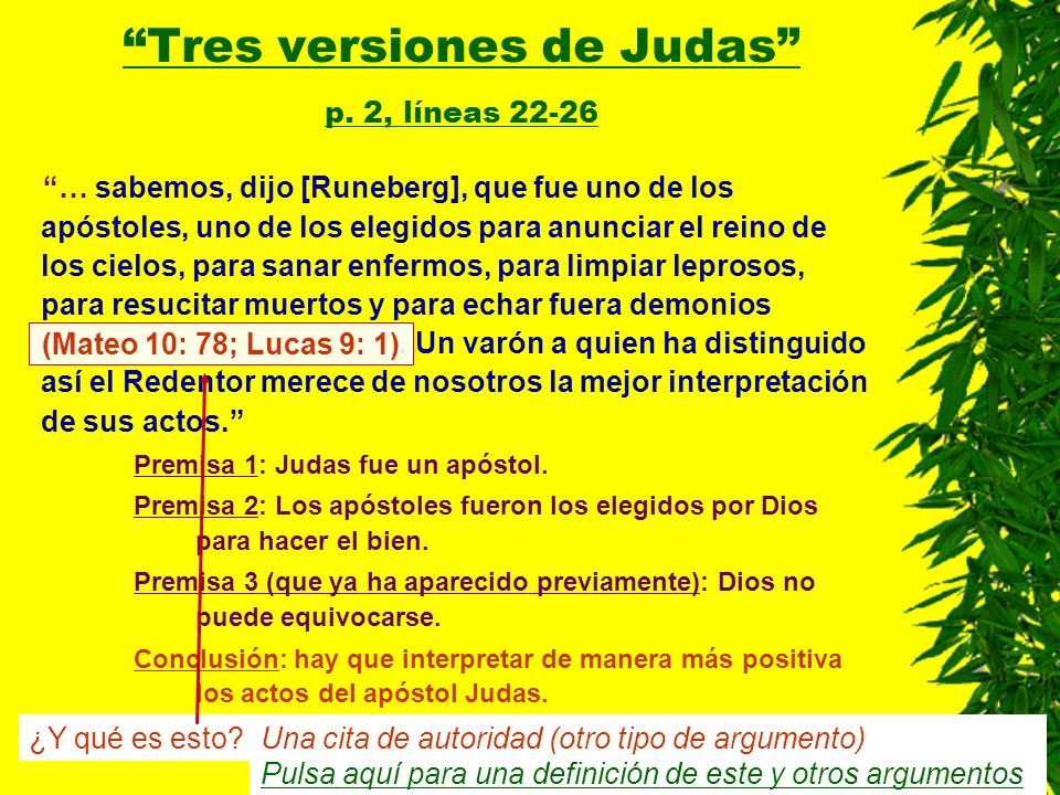 Tres versiones de Judas p. 2, líneas 22-26