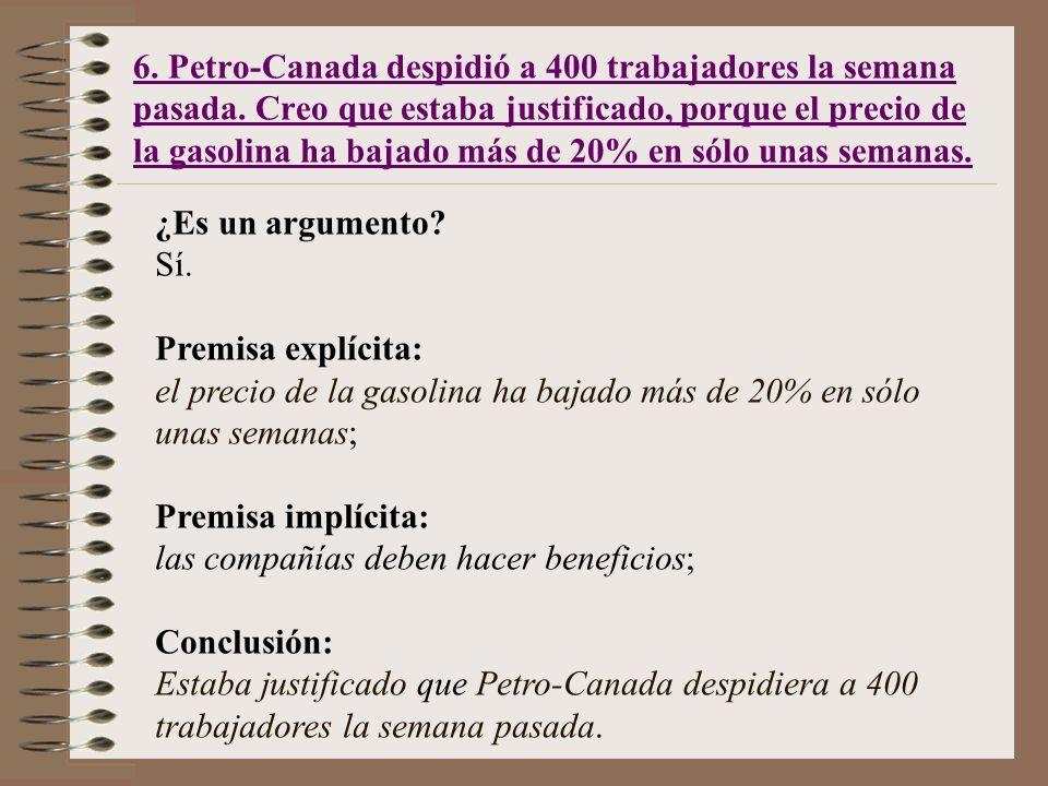 6. Petro-Canada despidió a 400 trabajadores la semana pasada