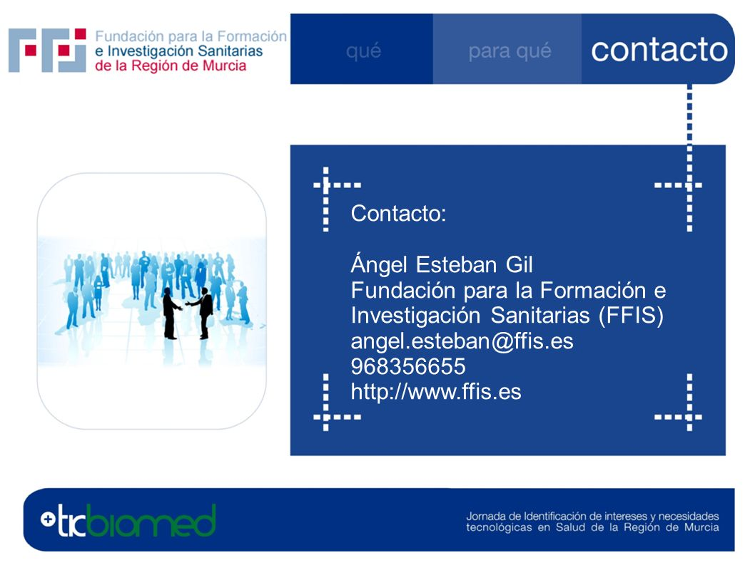 FFIS Contacto: Ángel Esteban Gil