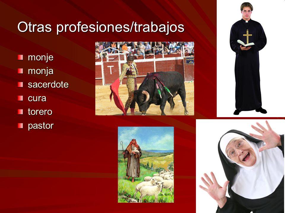 Otras profesiones/trabajos