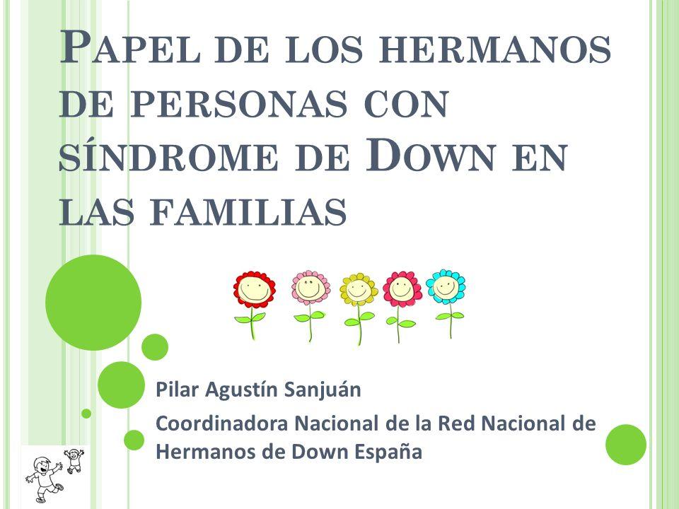 Papel de los hermanos de personas con síndrome de Down en las familias