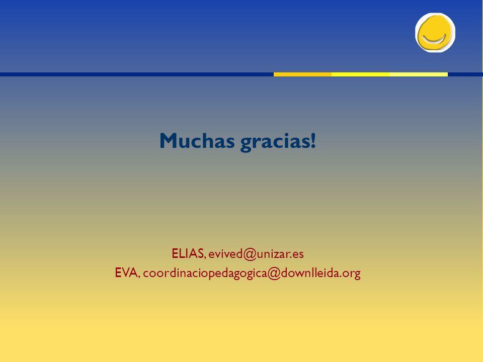 Muchas gracias! ELIAS, evived@unizar.es