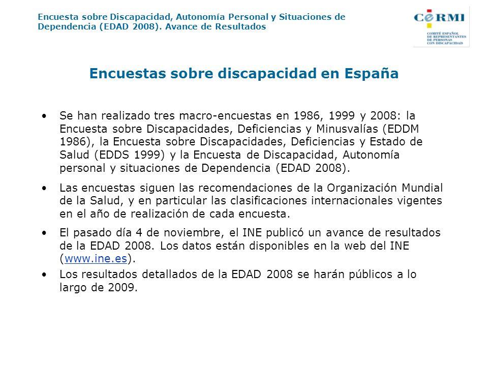 Encuestas sobre discapacidad en España