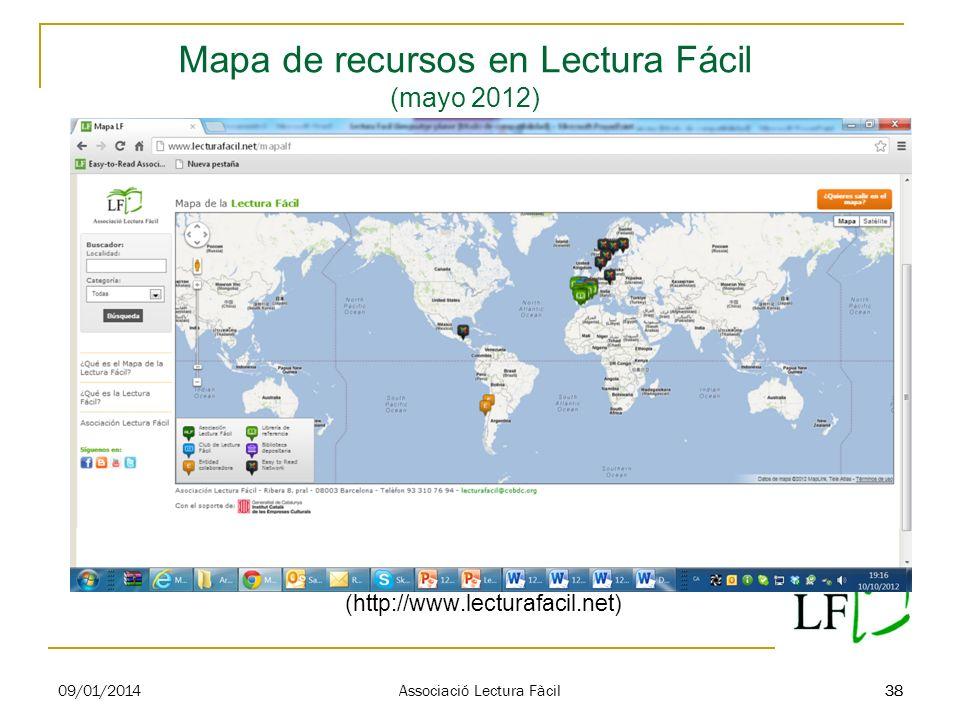 Mapa de recursos en Lectura Fácil (mayo 2012)