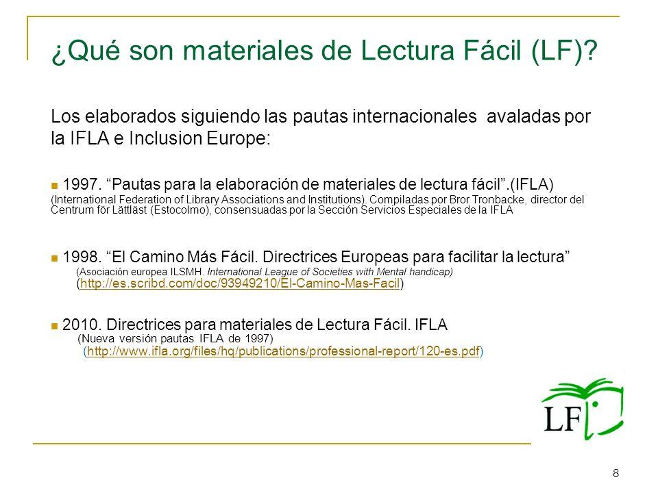 ¿Qué son materiales de Lectura Fácil (LF)