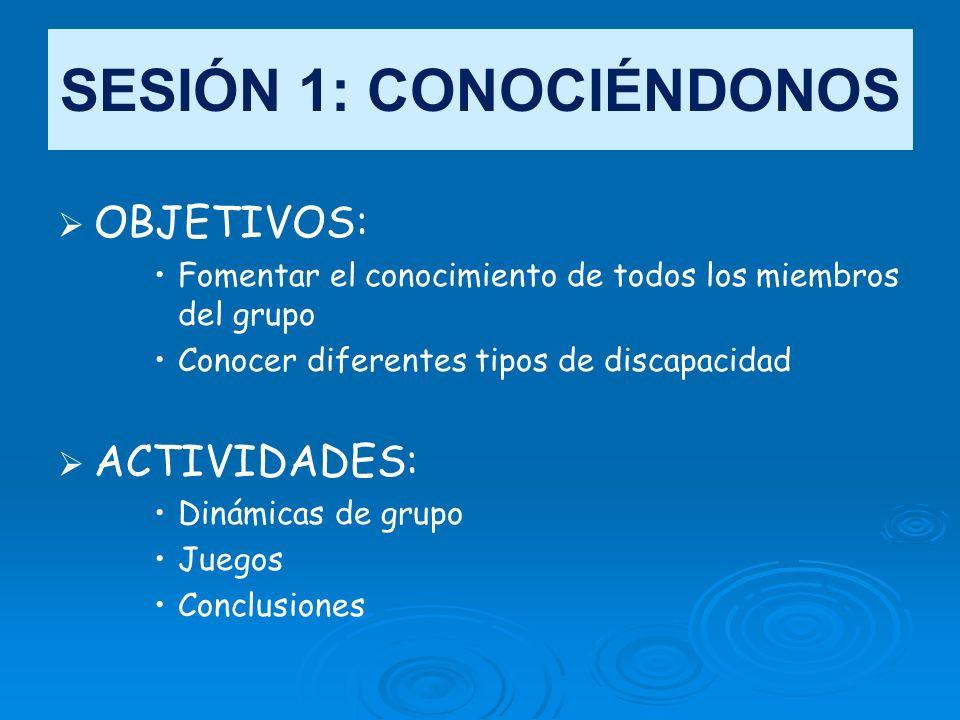 SESIÓN 1: CONOCIÉNDONOS