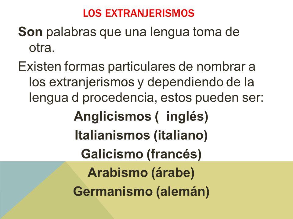Los extranjerismos