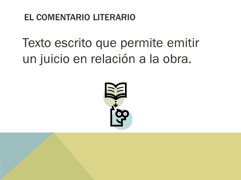 El comentario literario