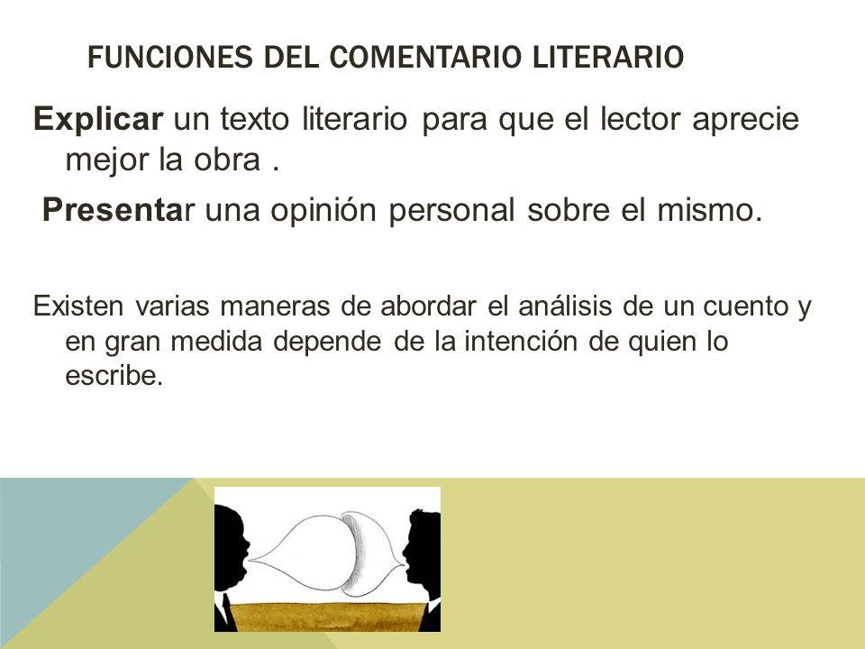 funciones del comentario literario