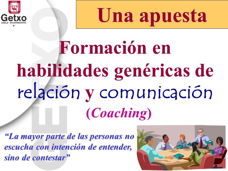 Formación en habilidades genéricas de relación y comunicación
