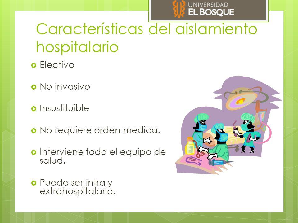 Características del aislamiento hospitalario