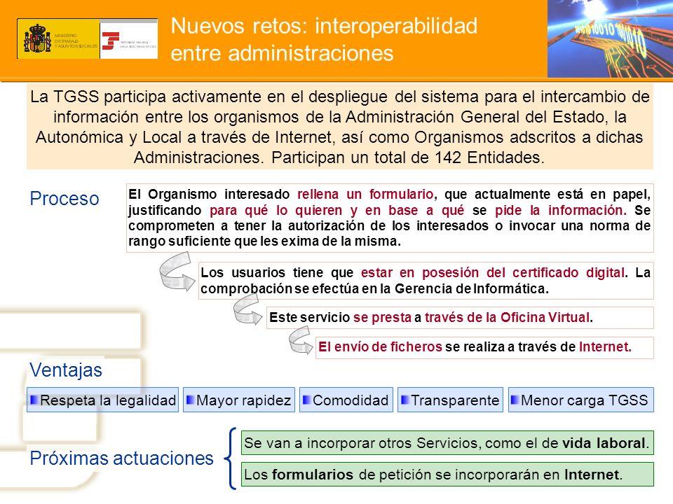 Nuevos retos: interoperabilidad entre administraciones