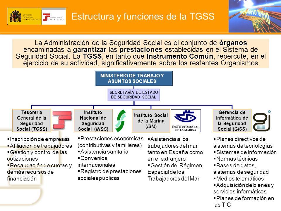 Estructura y funciones de la TGSS