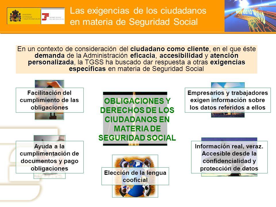 Las exigencias de los ciudadanos en materia de Seguridad Social