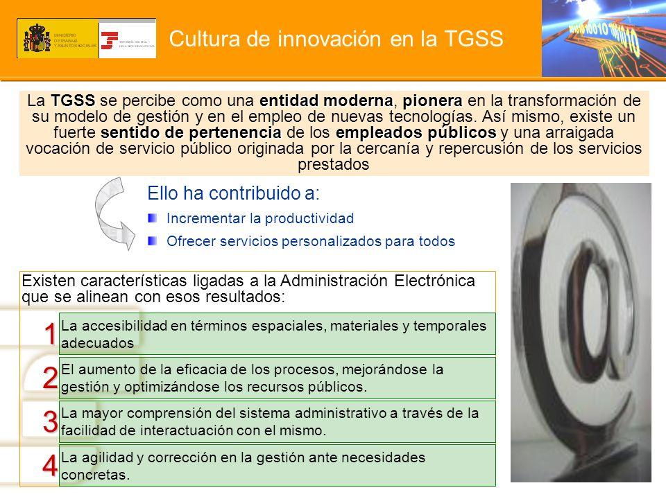 Cultura de innovación en la TGSS