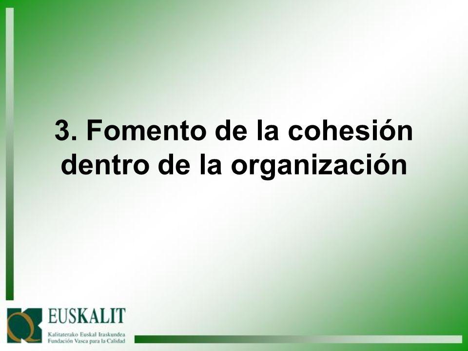 3. Fomento de la cohesión dentro de la organización