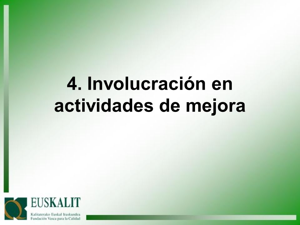 4. Involucración en actividades de mejora