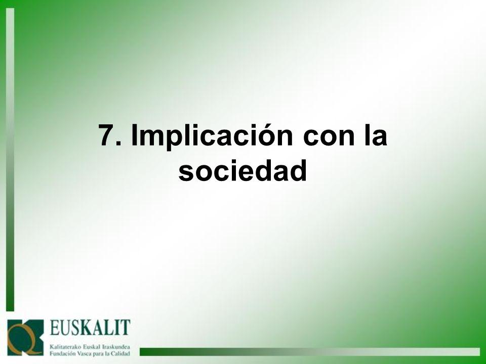 7. Implicación con la sociedad