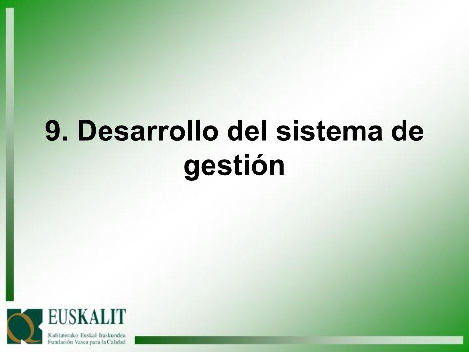 9. Desarrollo del sistema de gestión