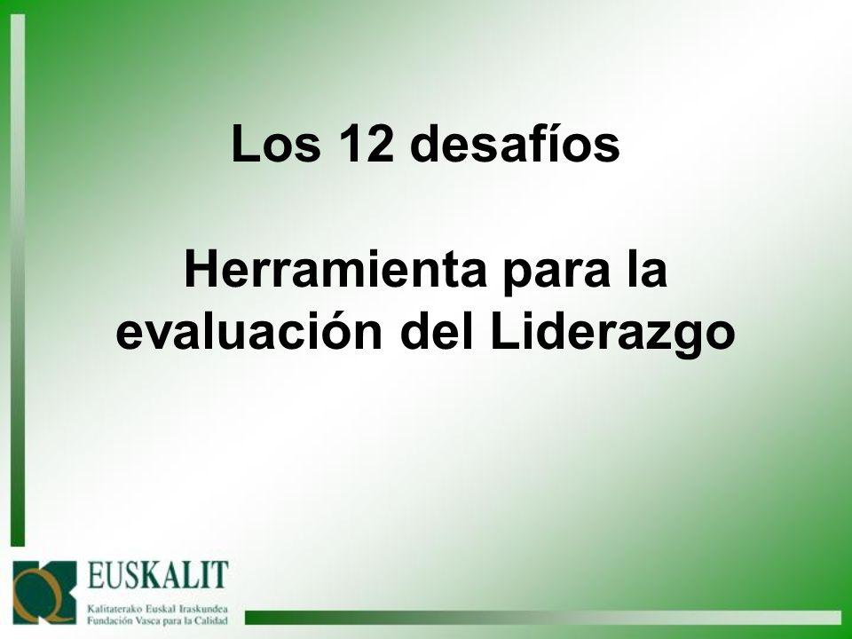 Los 12 desafíos Herramienta para la evaluación del Liderazgo