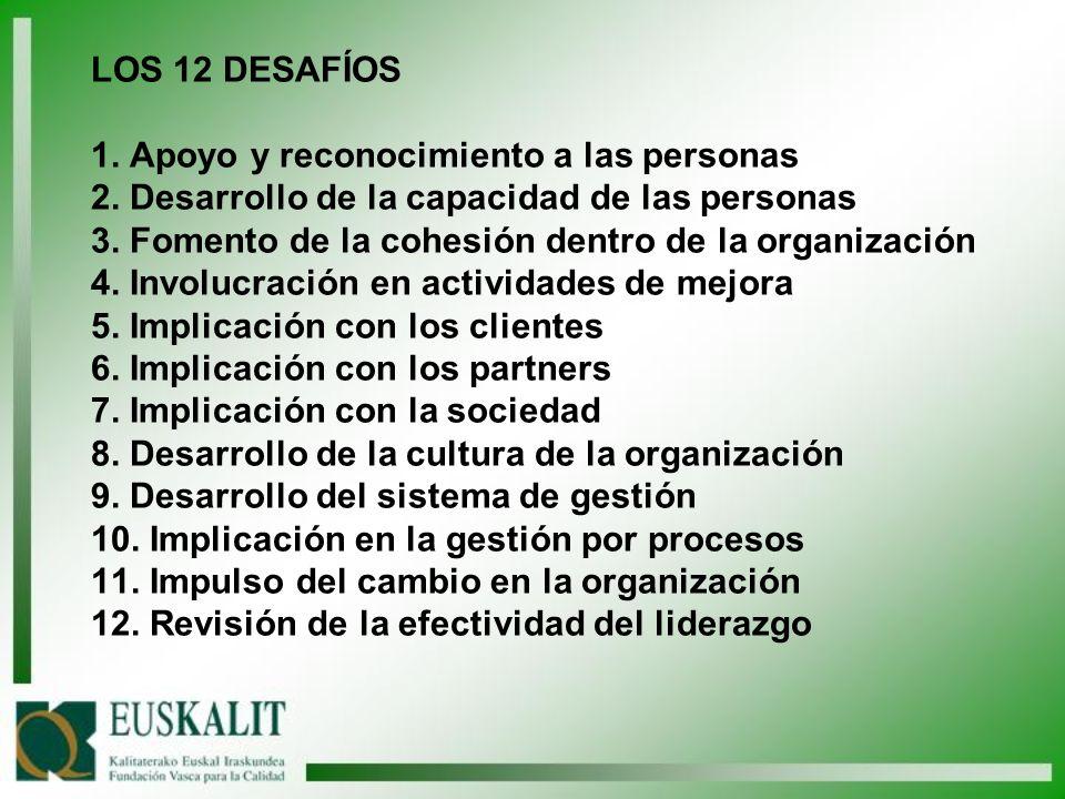 LOS 12 DESAFÍOS 1. Apoyo y reconocimiento a las personas 2