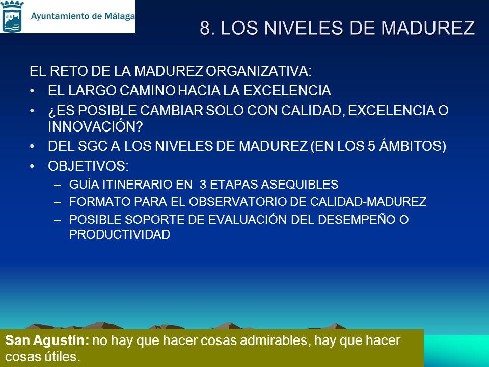 8. LOS NIVELES DE MADUREZ EL RETO DE LA MADUREZ ORGANIZATIVA: