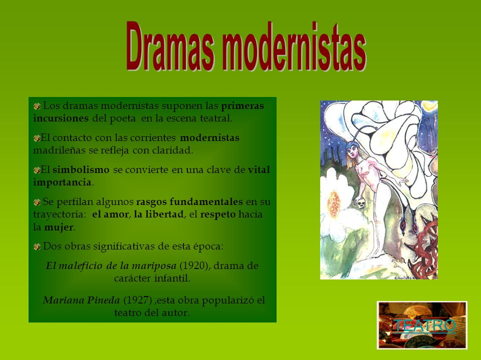 Dramas modernistas TEATRO
