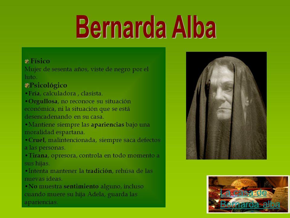Bernarda Alba La casa de Bernarda alba Psicológico Físico
