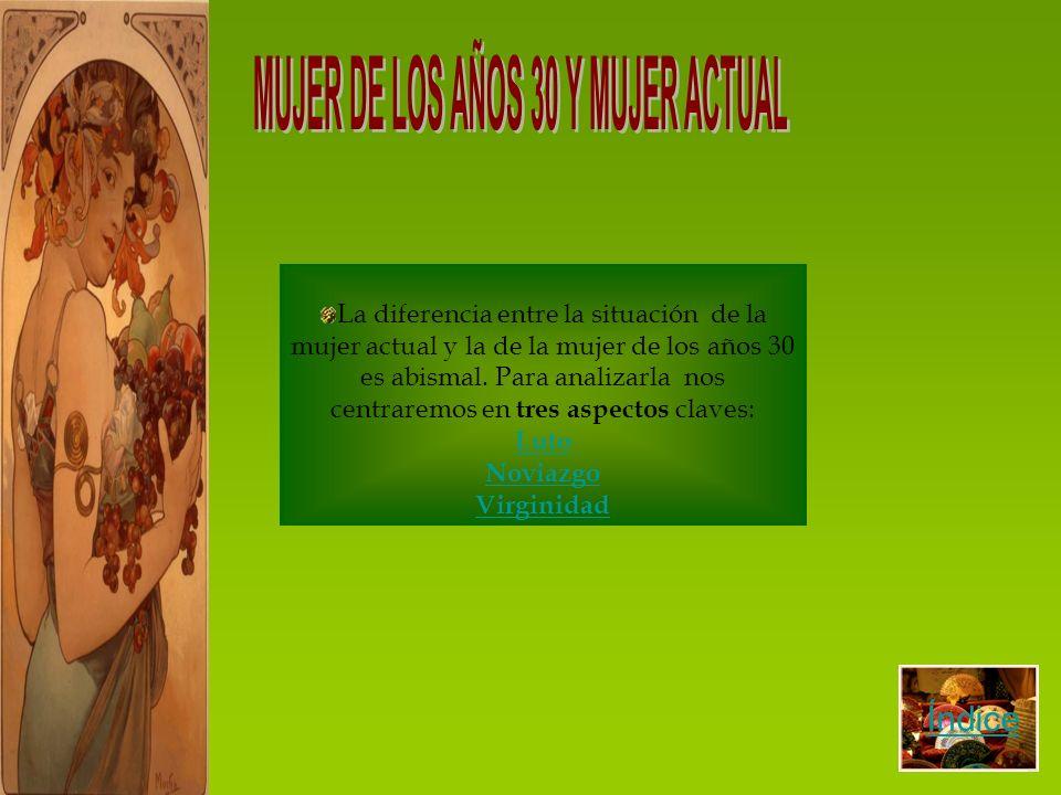 MUJER DE LOS AÑOS 30 Y MUJER ACTUAL