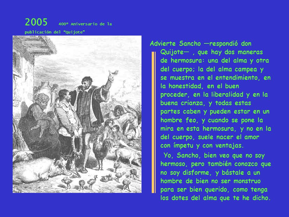 2005 400º Aniversario de la publicación del Quijote