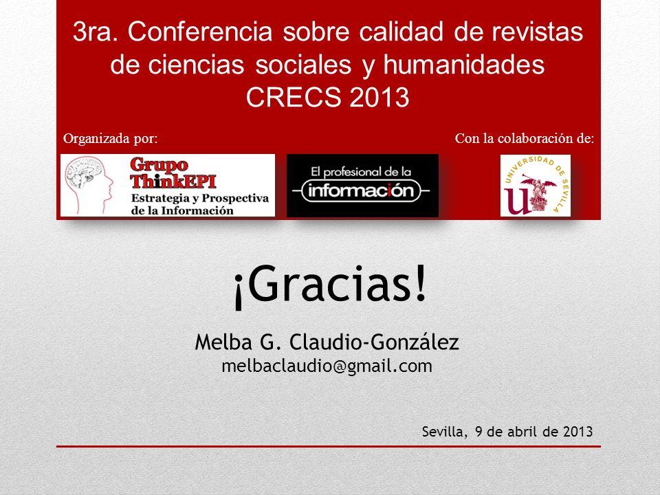 Melba G. Claudio-González melbaclaudio@gmail.com