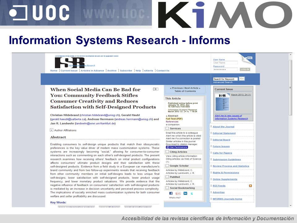 Information Systems Research - Informs