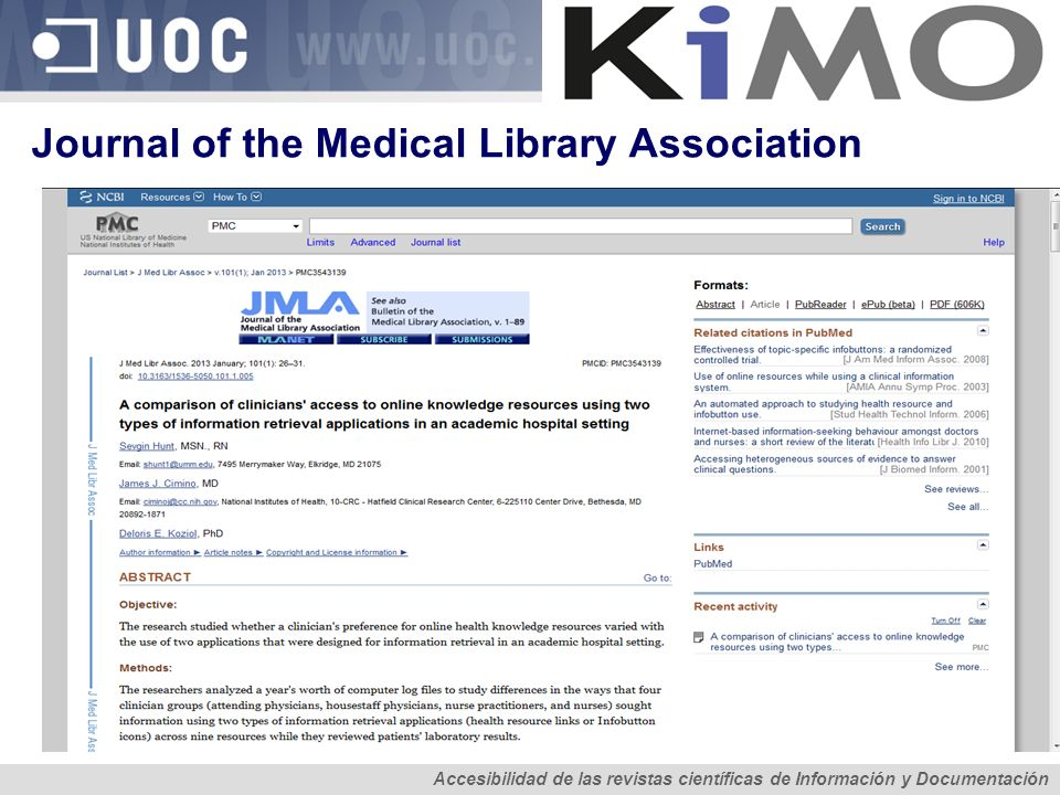 Journal of the Medical Library Association