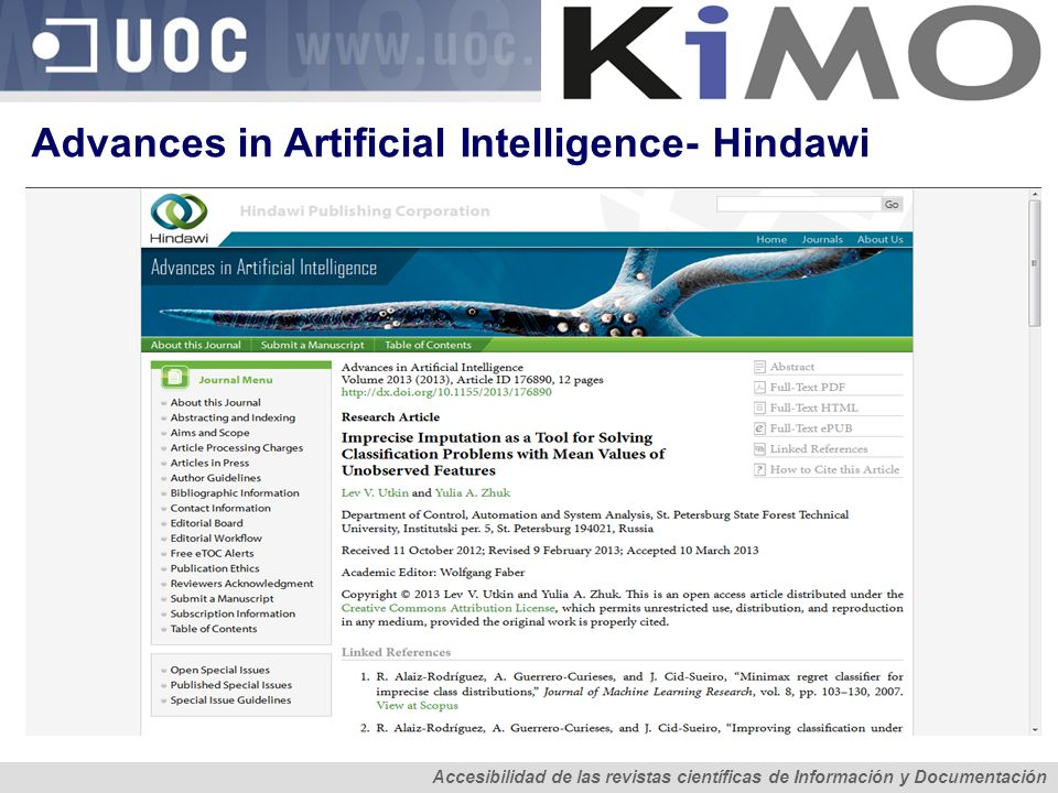 Advances in Artificial Intelligence- Hindawi