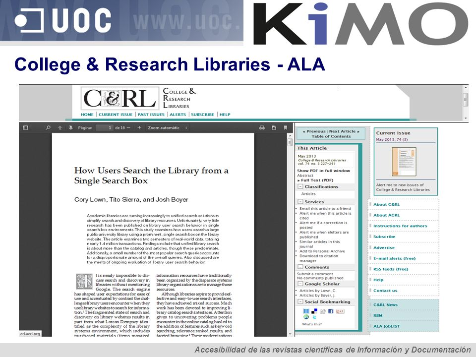 College & Research Libraries - ALA